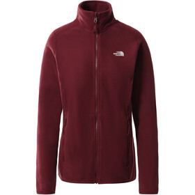 The North Face 100 Glacier Full Zip Jacket Women, rood